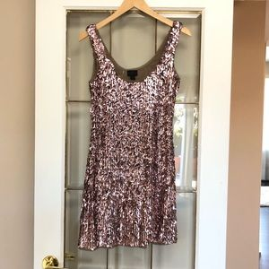 Banana Republic Monogram Sequin Dress XS